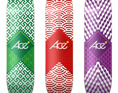 Ace - Skateboard Illustration