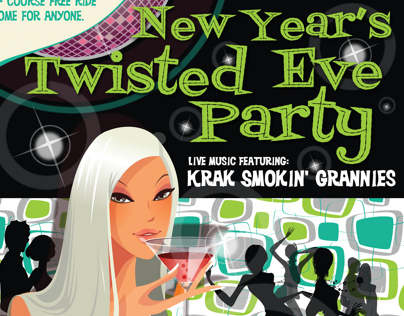 Twisted Lizard New Year's Eve Poster