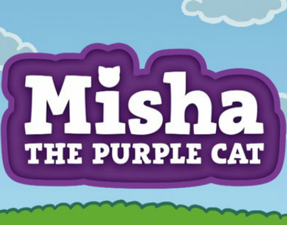 Misha, the purple cat