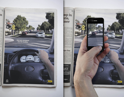 Interactive press ad for Road Safety