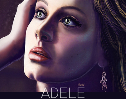 Adele - Skyfall Digital PAint