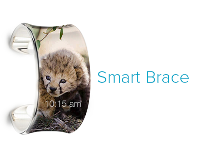 BRACE - Smart watch with flexible touch display & more!
