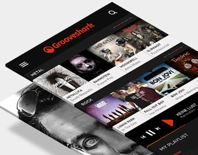 Grooveshark  App Concept.