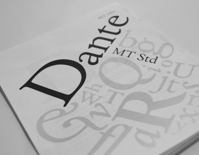 Typeface Book - Dante MT Std