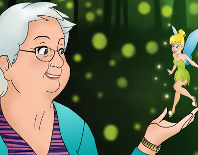 Grandma with Tinker Bell