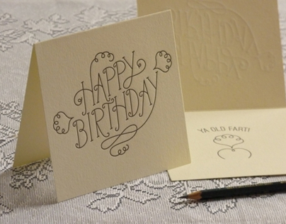 Letterpress Birthday Card