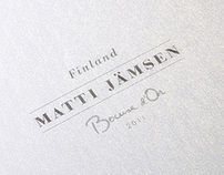 Bocuse dOr 2011 - Menu design for Matti Jämsen