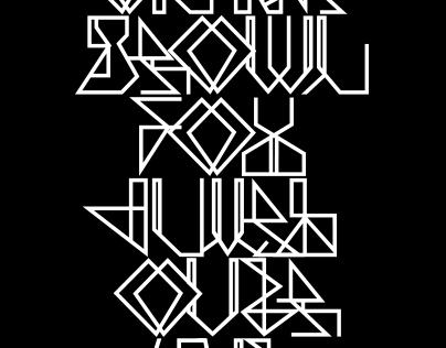Mazed - typeface