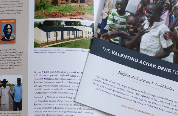 Valentino Achak Deng Foundation brochure