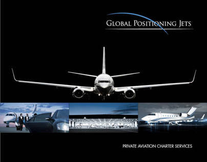 Global Positioning Jets Logo and Brochure Design