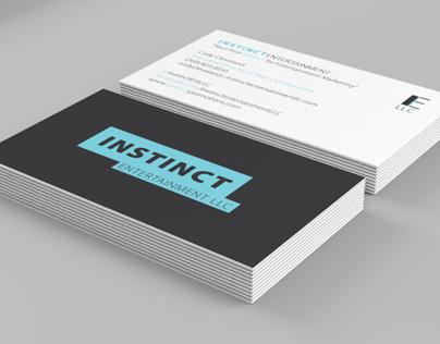 Instinct Entertainment LLC Business Card Mock-Up