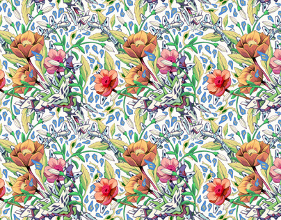 Wallpaper pattern design 15 Edouard Artus ©2012