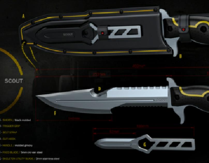 G.D.W.  _ SCOUT Outdoor knife set