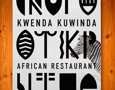 African Restaurant Concept+Identity