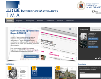 Web Design Instituto de Matemáticas UCV