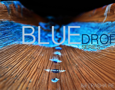BLUE drop series | art