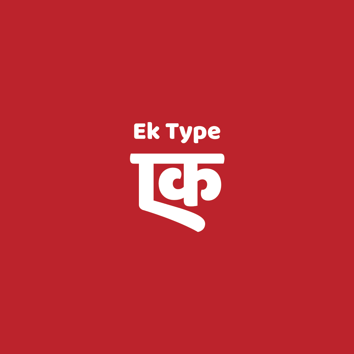 Ek Type is a collective of type designers from India.