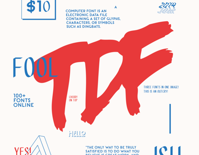 Ten Dollar Fonts Poster