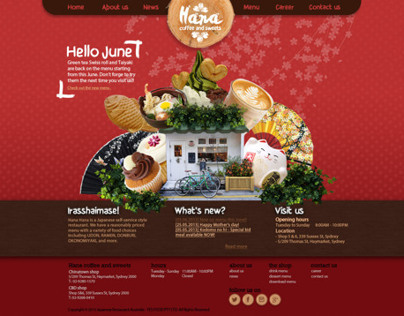 Hana restaurant website