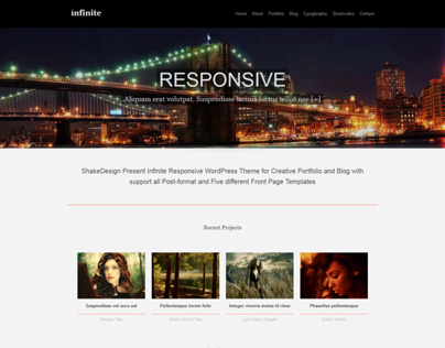 Infinite – Modern Responsive WordPress Theme. 2 in 1.