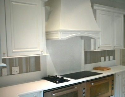 PAINTED FINISHES ON KITCHEN CABINETRY AND WALLS