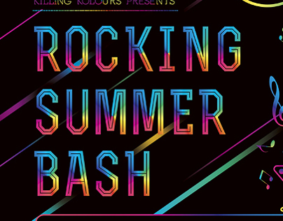 Rocking Summer Bash Party Flyer
