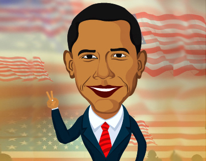 Barack Obama_Cartoon Illustration