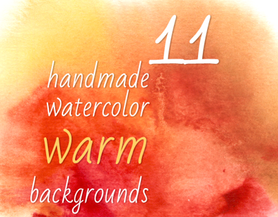 11 Warm Watercolor backgrounds