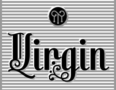 Virgin a new decorative font