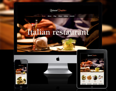 restaurant responsive website