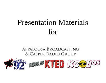 Presentation Materials for Appaloosa Broadcasting