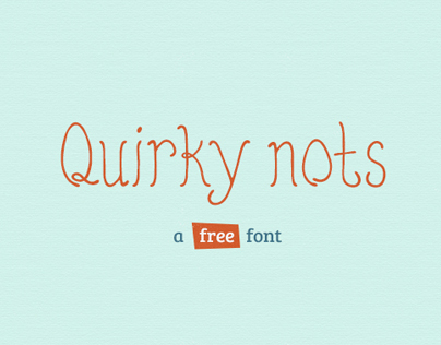 Quirky Nots (Free Font)