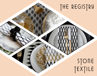The Registry–A Bridal Lookbook for Stone Textile