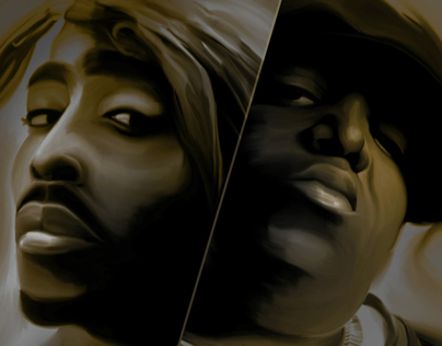 Hip Hop Legends - Tupac & Biggie - Digital Painting