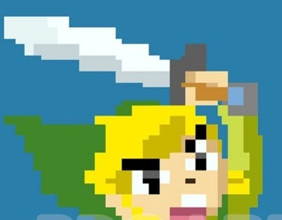 Pixel Art Link Illustration