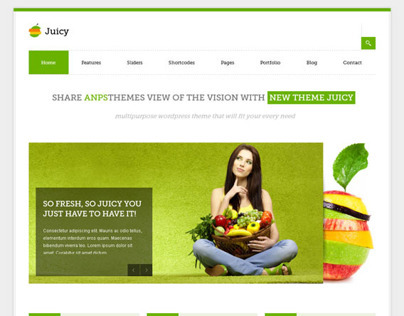 Juicy, WordPress Green Business Portfolio Theme