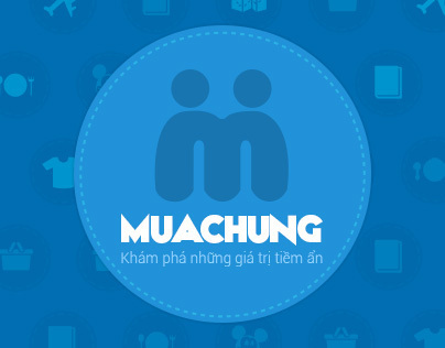 Muachung.vn - Mobile Application - Flat Design