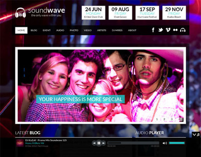 SoundWave, Premium WordPress Music Theme