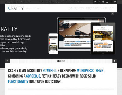 Crafty, WordPress Retina Ready Responsive Theme