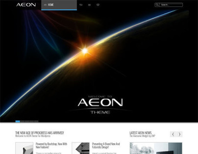 AEON, WordPress Responsive Dark Portfolio Theme