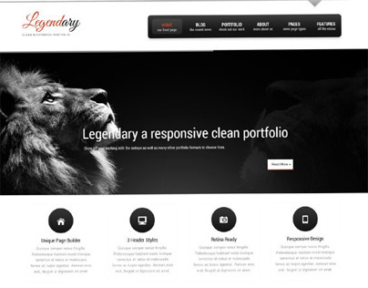 Legendary, WordPress Responsive Cortporate Theme