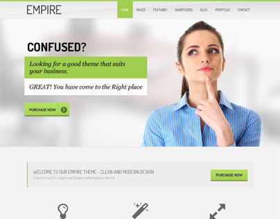 Empire, WordPress Green Corporate Business Theme