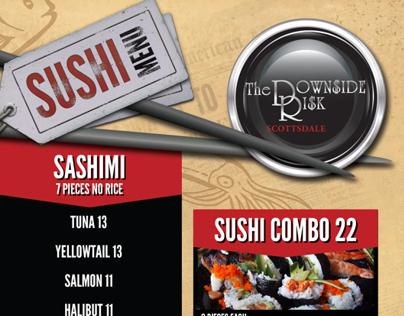 Downside Risk Sushi Menu