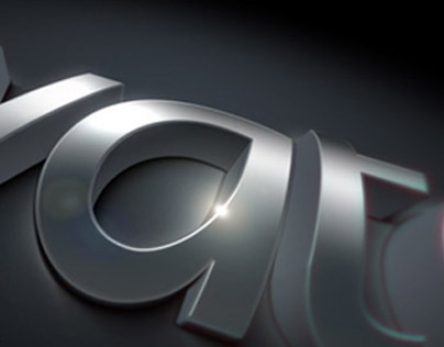 Curved chrome logo