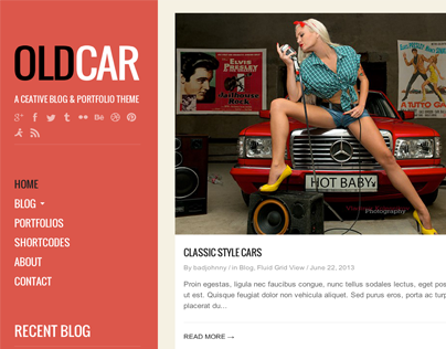 OldCar - A Creative Blog & Grid WordPress Theme
