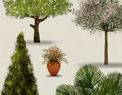 Trees - Artistic digital renderings