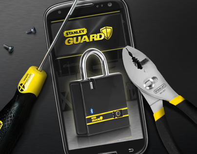 Stanley Guard Smart Lock - UI design