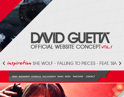 David Guetta - Official website concept - VOL.1