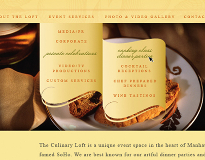 The Culinary Loft Website