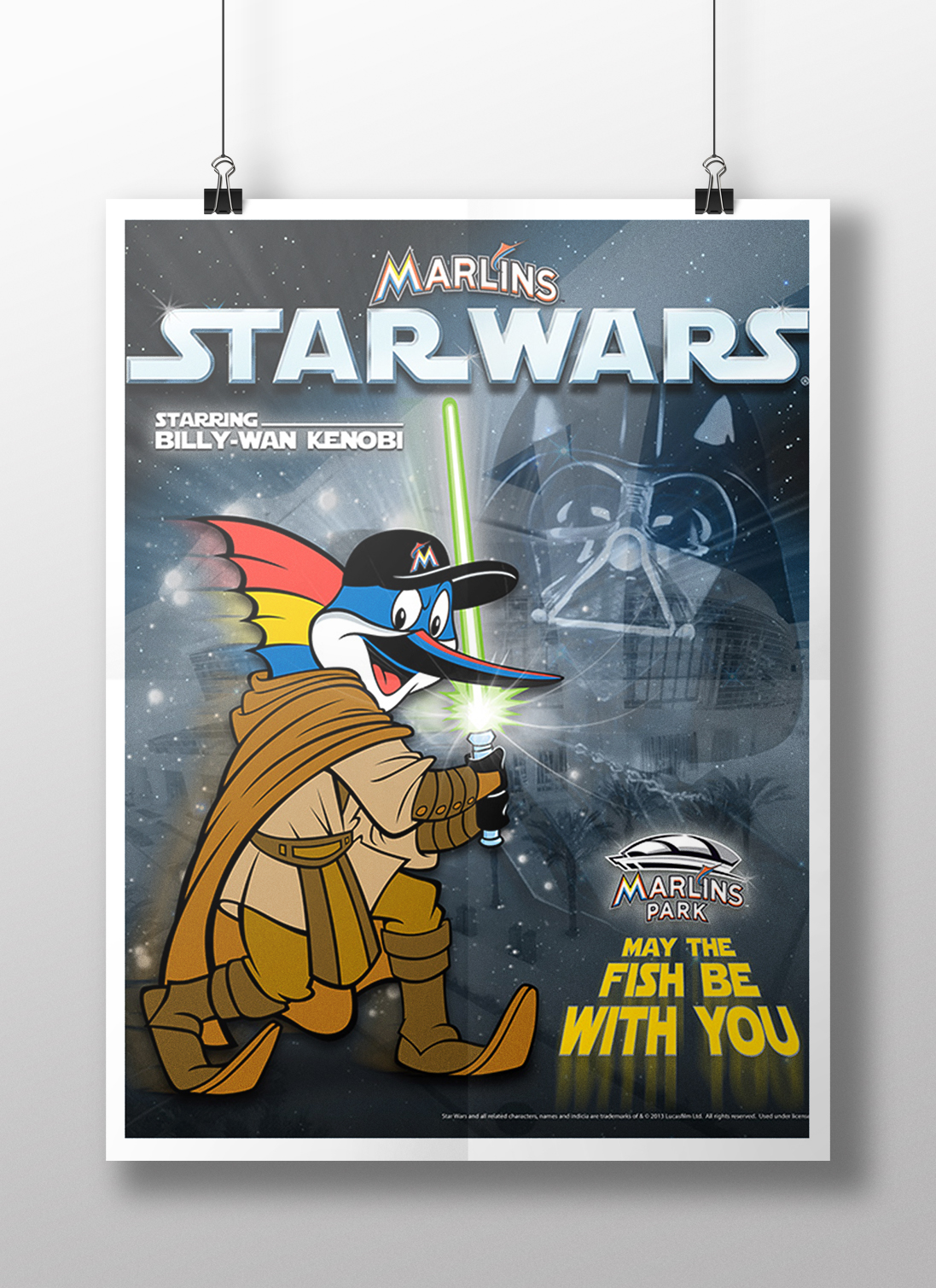 Marlins Star Wars Poster